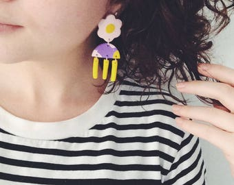 Summer Bloom Flowers | Handmade Polymer Clay Earrings