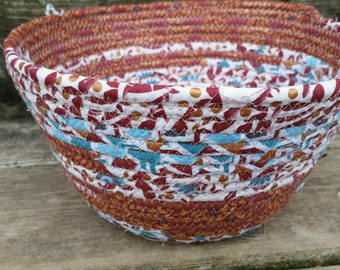 Terracotta Fabric Coiled Basket