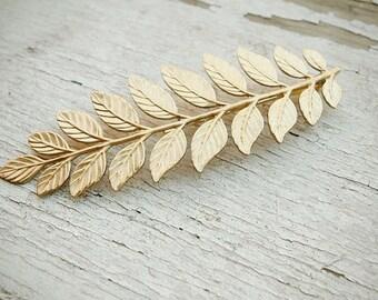 laurel - golden leaf hair adornment