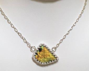 Yellow Spectrolite Choker/Necklace