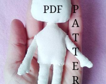 Doll body pattern Cloth doll pattern Sewing Doll tutorial Tilda doll Cloth doll making How to sew a doll Tutorial Cloth doll body Blank doll
