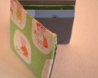 Men's Wallet, linen and cotton