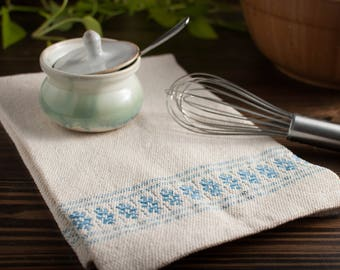 Handwoven 100% Cotton Dish Towel (with flowers)
