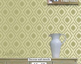 Allover Stencil , Reusable stencils for walls , DIY décor