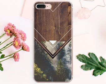 Forest iPhone 8 Plus Case iPhone 7 Plus cover iPhone 6S Plus Case iPhone 5C iPhone 5S Case iPhone Silicone Sleeve hard case CA1014