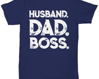 Husband dad boss father's day gift t-shirt