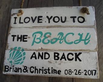 Personalized Wedding sign   beach wedding sign   Wedding sign   Wedding gift   Anniversary gift   Bridal gift   custom beach sign