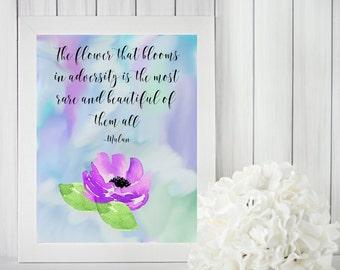 Digital Print, Printable Wall Art, Printable Quotes, Purple Wall Art, Digital Download, Instant Download