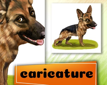 I will draw your Dog pet (avatar, caricature, portrait, cartoon,Custom Caricature,cartoon caricature,cartoon)