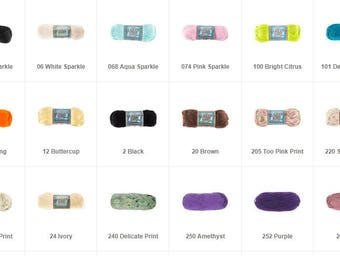 I Love This Cotton Brand Yarn Various Colors! New!
