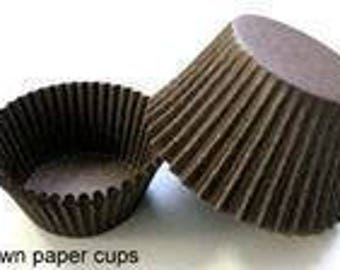 200 ct Mini Brown Cupcake Liners 1-1/2x1  Greaseproof SPECIAL PRICE