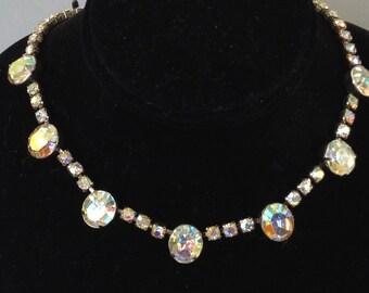 Weiss Aurora Borealis Rhinestone Choker/Necklace