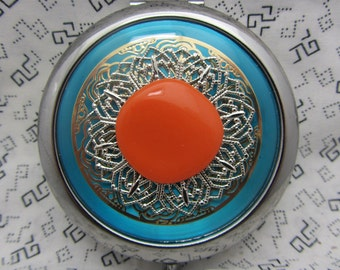 Compact Mirror Keep Cool Comes With Protective Pouch Gift for Her Bridesmaid Gift