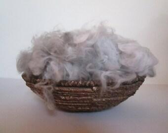 100% French Angora wool - gray