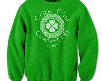 Celtic Club Cleveland Ohio Irish Ireland Crewneck Sweatshirt DT0891