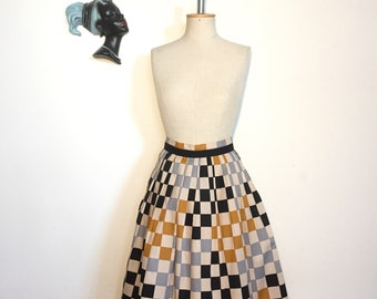 Vintage 70s does 50s Cotton Skirt