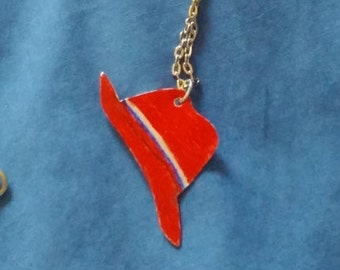 Agent Peggy Carter Pendant Necklace Upcycled