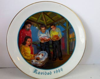 Puerto Rico Ofrenda Jibara Sterling House Navidad Plate Antonio Maldonado 86 Rare Vintage