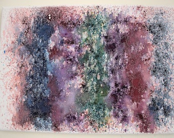 Black Friday | Cyber Monday | A4 Hand Painted Watercolour Abstract Canvas | Painting | Housewarming | One Of A Kind | Gift Idea | Charity