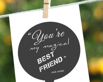 Funny New Girl Quote, Funny Love Card, You're My Magical Best Friend, Nick Miller Quote