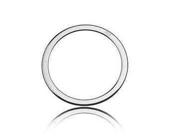 Charm/Connector Circle Sterling Silver 925
