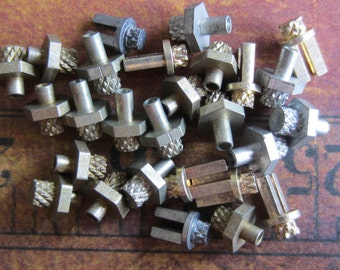 Vintage Brass Clock parts spindles - levers - Robot mix - Levers - Steampunk - Scrapbooking y99