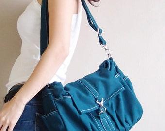 Sling Bag, Shoulder Bag, Crossbody Bag, Top Handle Bag, Hobo Bag, Festival Bag, Gift Ideas For Women - Mini CLASSIC in Teal - SALE 30% OFF