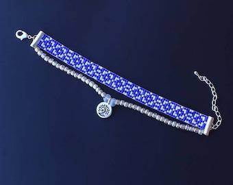 Loom bracelet, Wrap Bracelet, Beaded Bracelet, Boho Bracelet