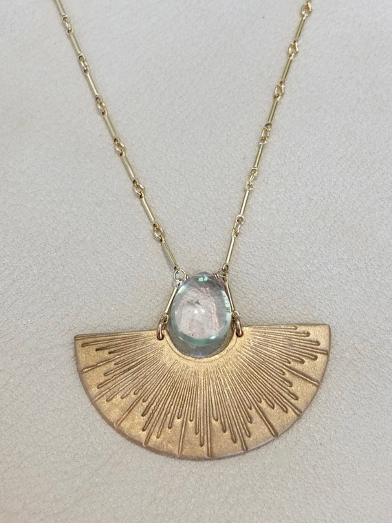 Papyrus Necklace in green amethyst