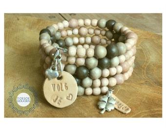 Wrap bracelet with personal charm