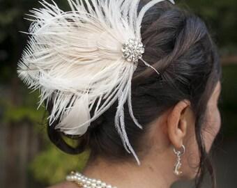 Fascinator, Feder-Haarspange, Hochzeit Haarschmuck, Braut Haar Fascinator, Vintage-Stil Fascinator, große Gatsby, Braut Kamm,