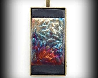 Ceramic Pendant, Raku Jewelry, Ceramic Cabochon, Ceramics, Raku Pendant, Raku Ceramics Raku Cabochon Silk Ribbon Gift for Women Gift For Her