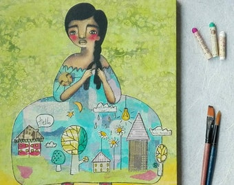 Decorate Myself, An Original Mixed Media Painting by ChiarArtIllustration