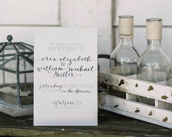 Wedding Programs - Custom Design & Printing