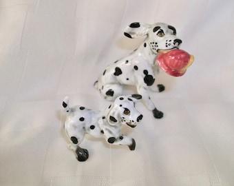 2 Mini Dalmation Bone China Figurines