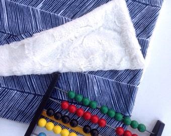 Herringbone Baby Blanket, Herringbone Lovey, Minky Baby Blanket, Baby Boy, Modern Baby Blanket, Navy Baby Blanket