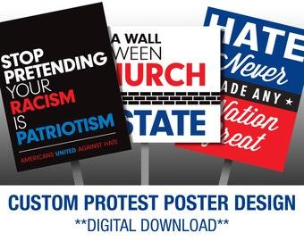 Custom Protest Sign