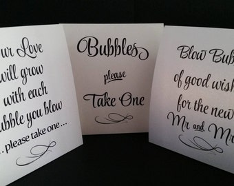 Wedding Bubble Sign