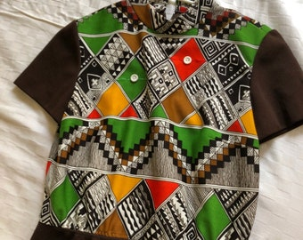 Geometric psychedelic vintage dress