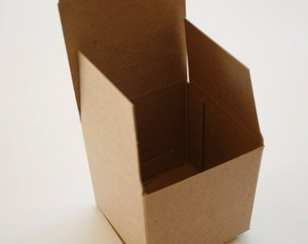 Brown Kraft Boxes DIY - set of 12 - Perfect with Twine or Deco Tape - Packaging - 3 x 3 x 3 Inches