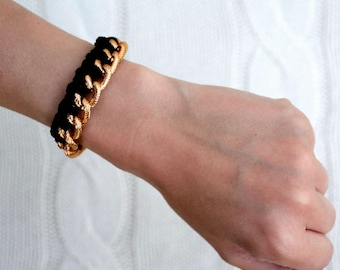 Braided Gold Chain Bracelet