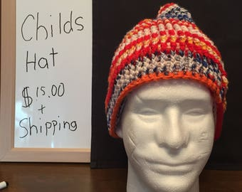 Multicolored childs winter hat