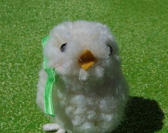 Small white peep chick for Easter spring pompom pom pom doll