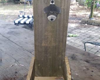 wooden wall mount bottle opener