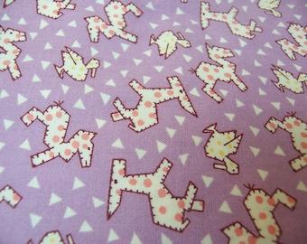 charming lavender animal cotton fabric