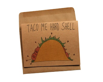 Funny Valentines day card for him naughty valentines card boyfriend valentine card her taco valentines day card husband naughty card for him