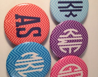 Monogram Bottle Openers, Pocket Mirrors, Magnets, Customize, Personalize
