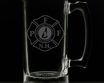 Professional Firefighters Of New Hampshire 25 Ounce Beer Mug