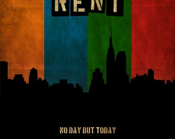 Rent Musical Theatre Poster (a) - Choose your size - A4/A3/A2