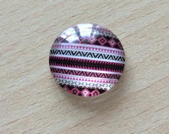 Nice geometry 02 pattern glass cabochon pendant